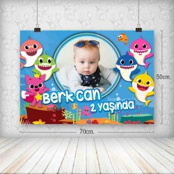 Baby Shark Poster 50x70