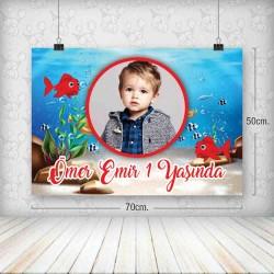 Kırmızı Balık Poster 50x70