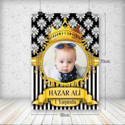 Kral Taç Siyah Gold Poster 50x70