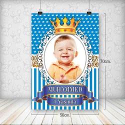 Kral Taç Mavi Poster 50x70