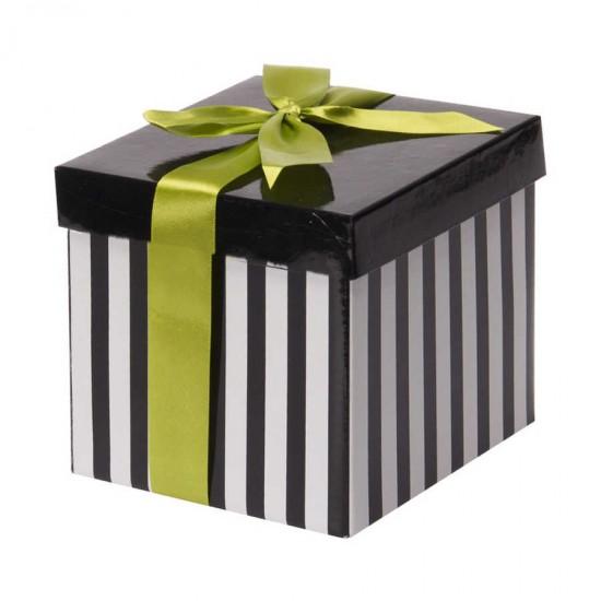 Beyaz Katlanabilir Hediye Kutusu 12,5x12,5 cm