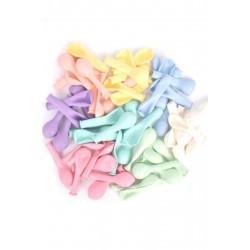 Mini Makaron Balon Karışık Renk 50 Adet