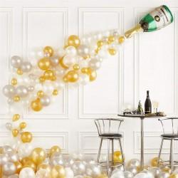 Balon Zinciri Lateks ve Şampanya Doğum Günü Seti