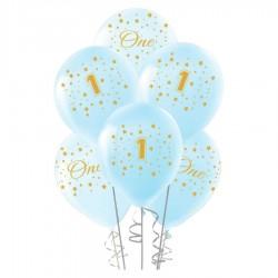 Altın First Year Baskılı Mavi Balon 100'lü
