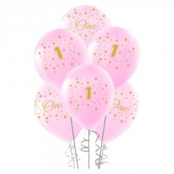 Altın First Year Baskılı Pembe Balon 100'lü
