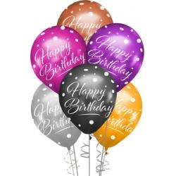 Çepeçevre Happy Birthday Baskılı Karışık Renk Krom Balon