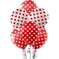 Çepeçevre Kalp Baskılı Balon