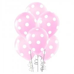 Çepeçevre Açık Pembe Puantiyeli Balon 100'lü