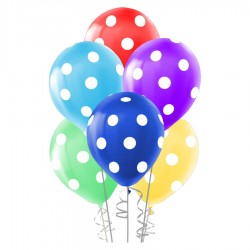Çepeçevre Beyaz Puantiyeli Balon 100'lü