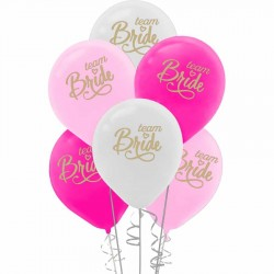 Team Bride Baskılı Renkli Balon 100'lü