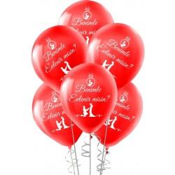 Benimle Evlenir Misin Baskılı Balon