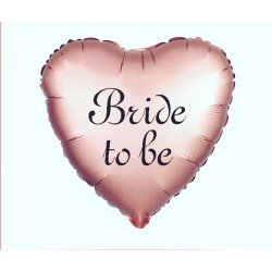 Brıde To Be Baskılı Kalp Folyo Balon Rose Gold