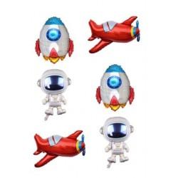 Space 6'lı Set Folyo Balon