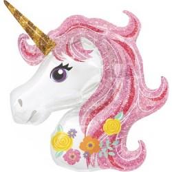 Unicorn Pembe Folyo Balon