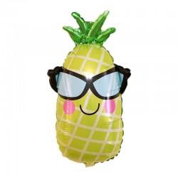 Gözlüklü Ananas Folyo Balon