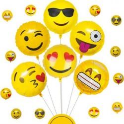 Emoji Folyo Balon 6 Adet
