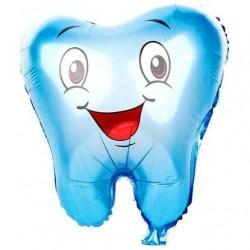 Diş Şekilli Mavi Folyo Balon