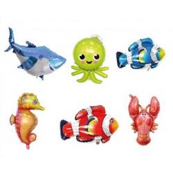 Okyanus Tema Deniz Canlıları Folyo Balon Seti 6lı
