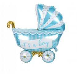 Bebek Arabası Mavi Folyo Balon