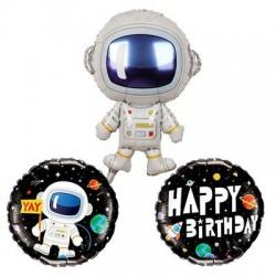 Astronot Folyo Balon Seti 3lü