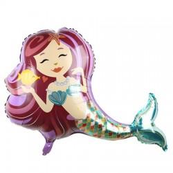 Deniz Kızı Folyo Balon 90 cm
