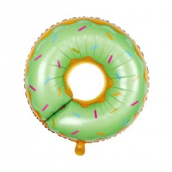 Donut Folyo Balon Yeşil