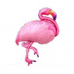 Pembe Flamingo Folyo Balon 55 cm