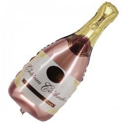 Rose Gold Şampanya Şişesi Şekilli Folyo Balon