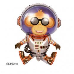 Astronot Monkey Folyo Balon