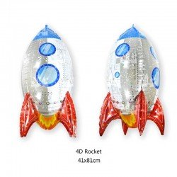 4D Rocket Folyo Balon