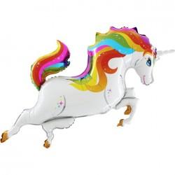 Unicorn Rengarenk Grabo Folyo Balon