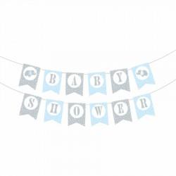 Baby Shower Mavi Harf Afiş