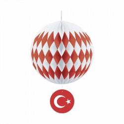Türk Bayraklı Petek Süs 30 cm