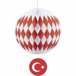 Türk Bayraklı Petek Süs 40 cm