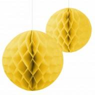 Sarı Petek Fener Süs 2'li
