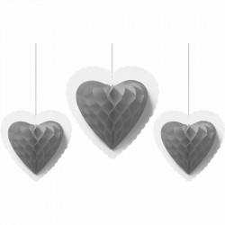 Üçlü Kalp Petek Süs