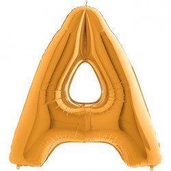 A Harf Altın Folyo Balon 40 cm