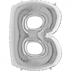 B Harf Gümüş Folyo Balon 40 cm