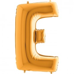 E Harf Altın Folyo Balon 40 cm