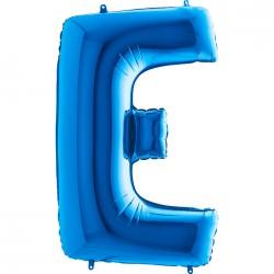 E Harf Grabo Mavi Folyo Balon 102 cm