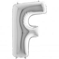 F Harf Gümüş Folyo Balon 40 cm