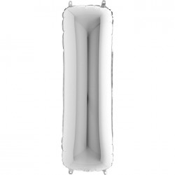 I Harf Gümüş Folyo Balon 40 cm