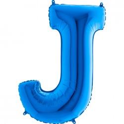 J Harf Grabo Mavi Folyo Balon 102 cm