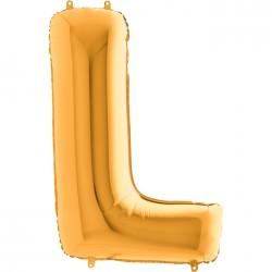 L Harf Altın Folyo Balon 40 cm