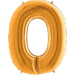 O Harf Altın Folyo Balon 40 cm