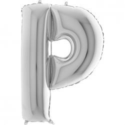 P Harf Gümüş Folyo Balon 40 cm