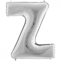 Z Harf Gümüş Folyo Balon 40 cm