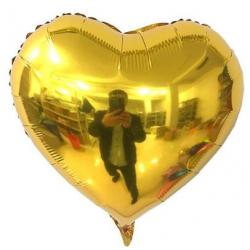 Gold Kalp Folyo Balon 60 cm