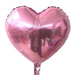Pembe Kalp Folyo Balon 60 cm