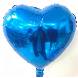 Mavi Kalp Folyo Balon 86 cm